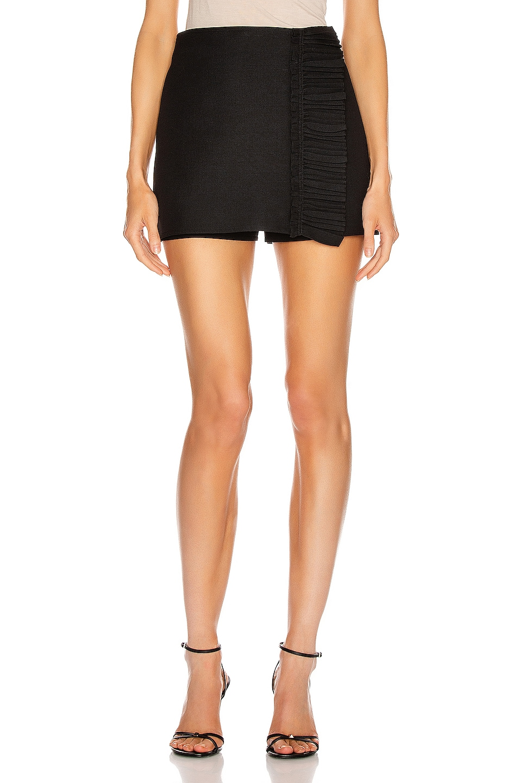 Image 1 of Valentino Ruffle Mini Skirt in Black