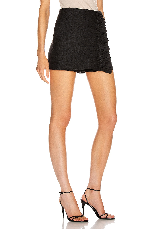 Image 2 of Valentino Ruffle Mini Skirt in Black