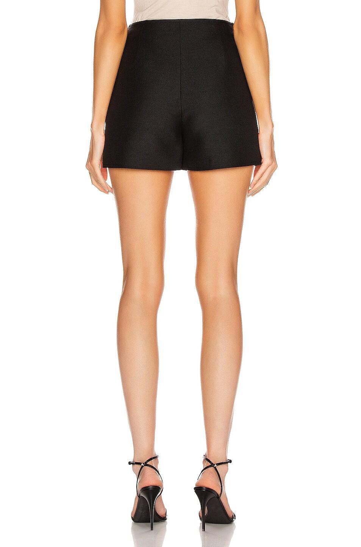 Image 4 of Valentino Ruffle Mini Skirt in Black