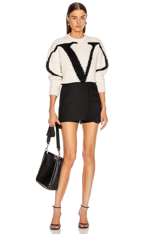 Image 5 of Valentino Ruffle Mini Skirt in Black