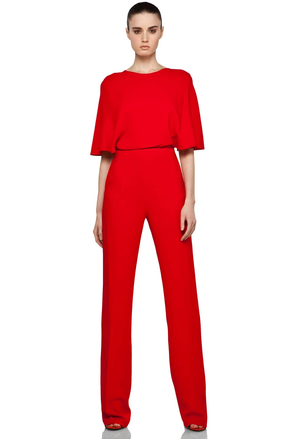Image 1 of Valentino Flutter Jumpsuit in Red