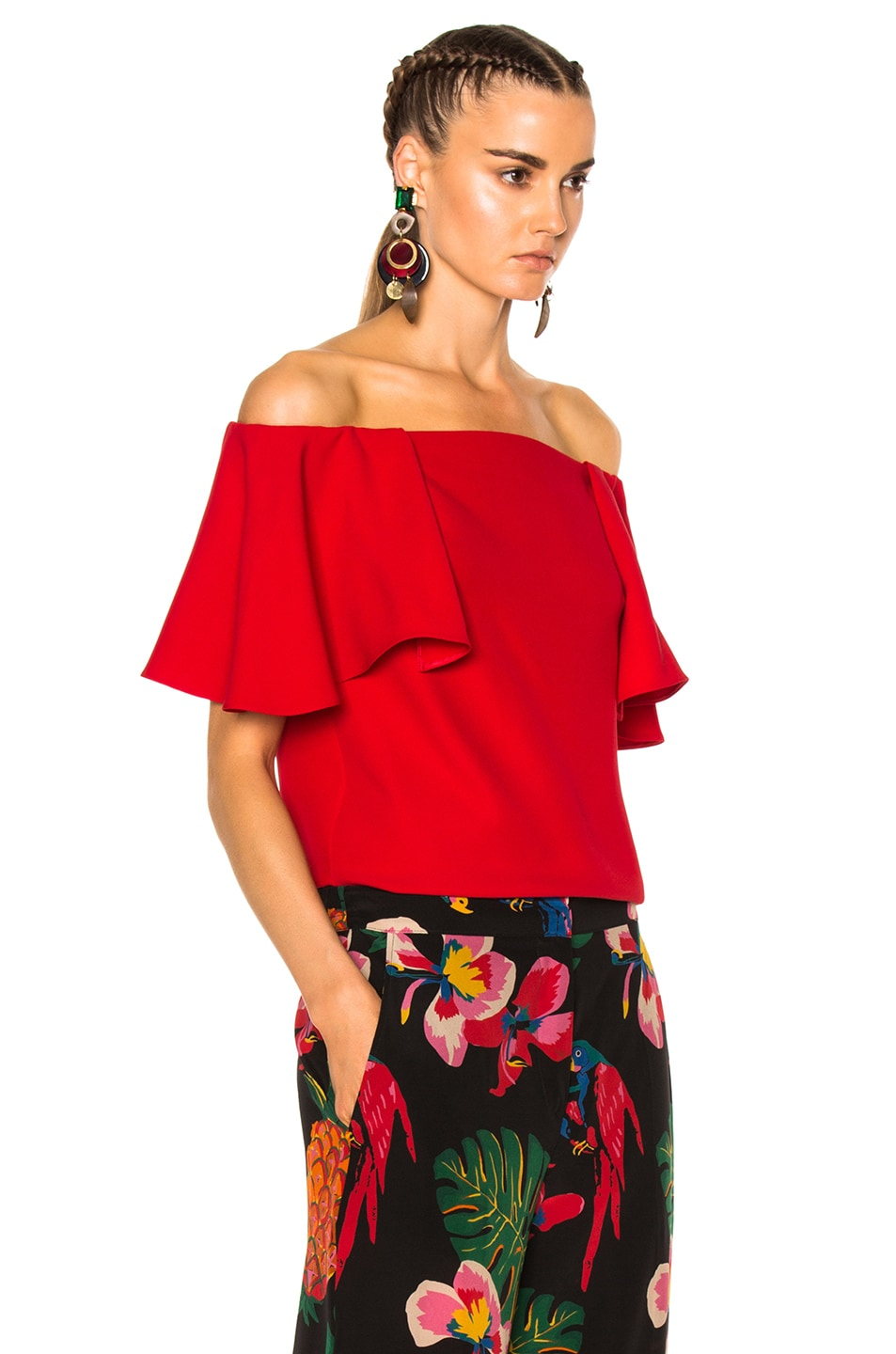 3ba775d0df8 Image 3 of Valentino Off The Shoulder Top in Red