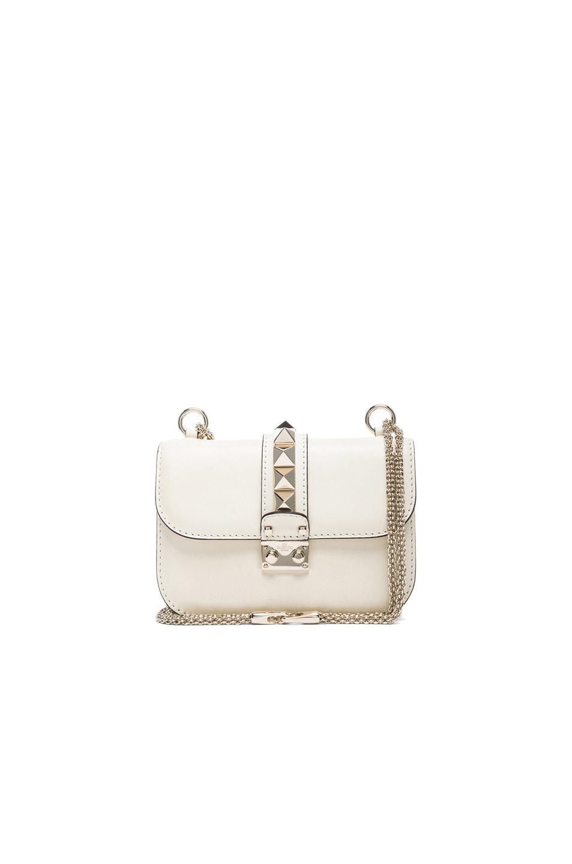 Image 1 of Valentino Mini Lock Flap Bag in Light Ivory