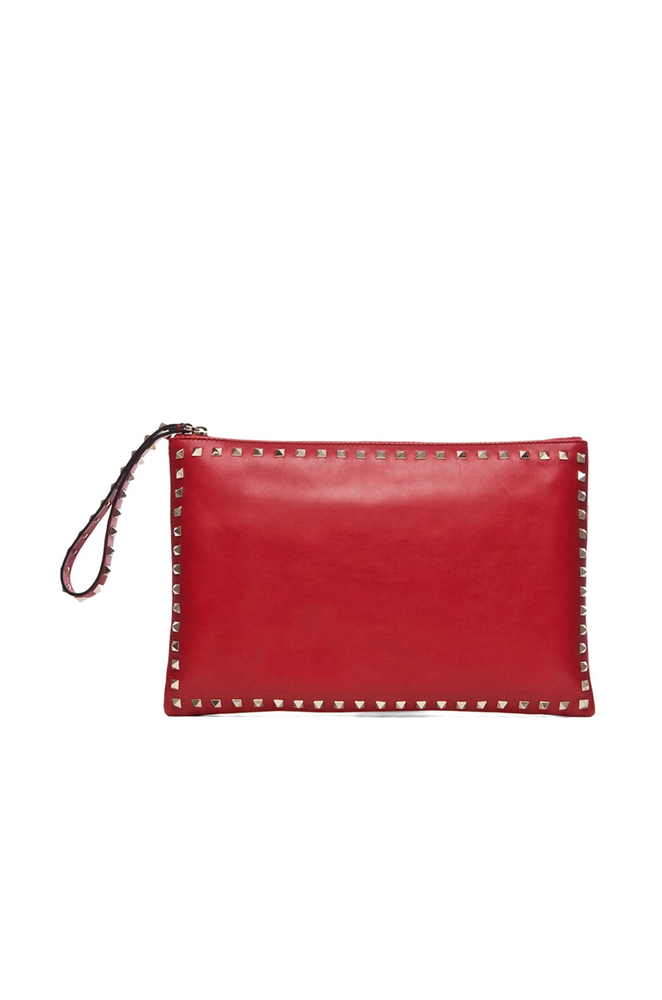Image 1 of Valentino Small Rockstud Clutch in Red