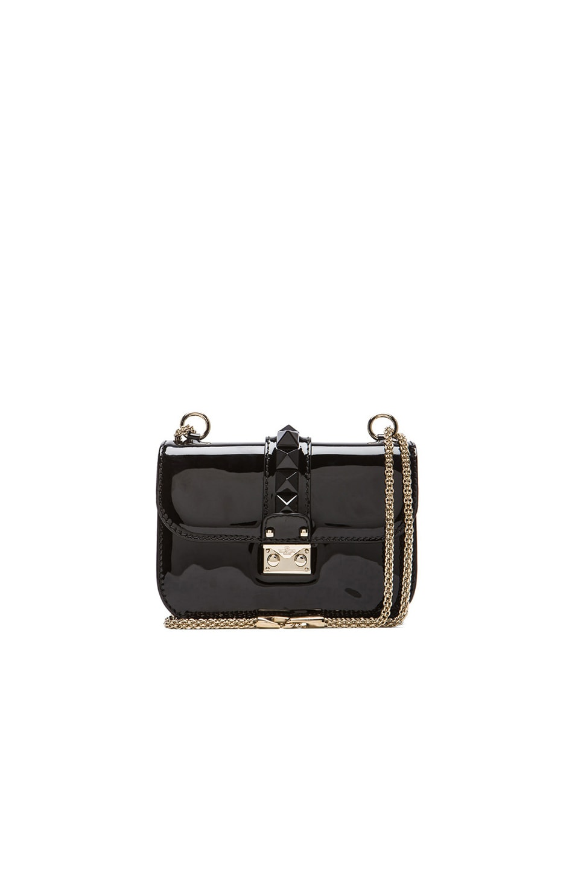 Image 1 of Valentino Mini Punkouture Lock Flap Bag in Black