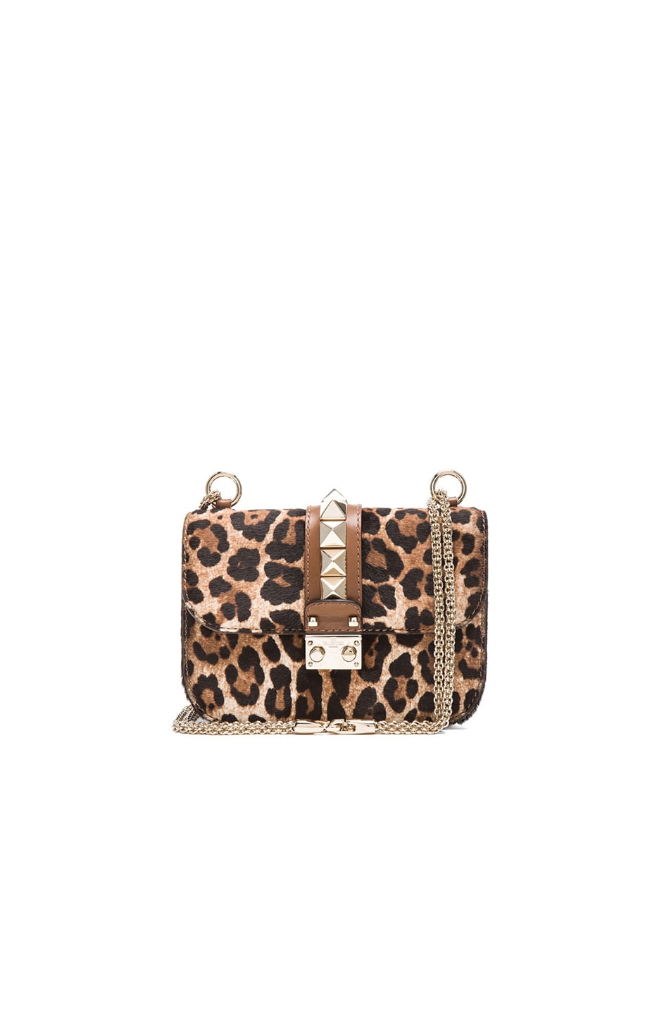 25e6c2ad6319 Image 1 of Valentino Cavallino Small Lock Flap Bag in Leopard