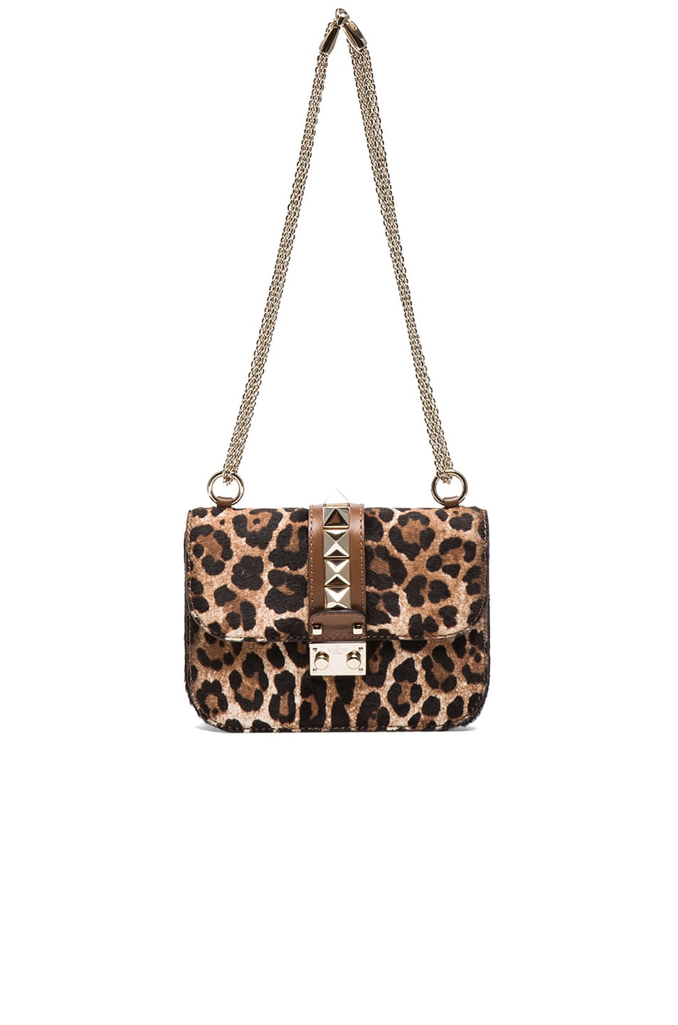 a9c0999e6506 Image 6 of Valentino Cavallino Small Lock Flap Bag in Leopard