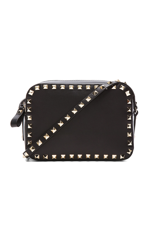 7c3bb98bc Image 1 of Valentino Rockstud Crossbody Bag in Black