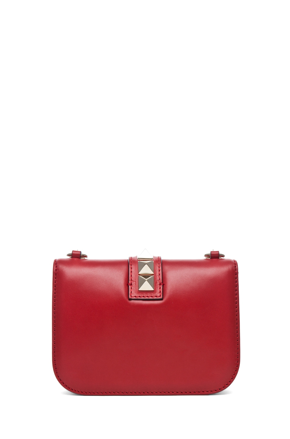 Image 2 of Valentino Lock Flap Bag in Red