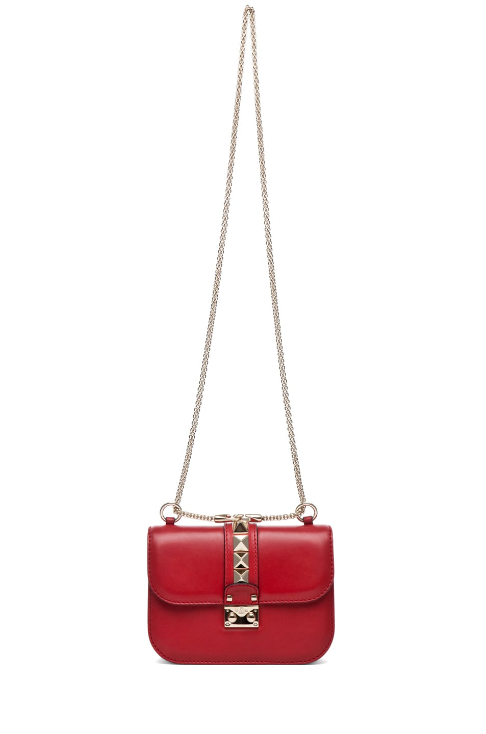 Image 6 of Valentino Lock Flap Bag in Red