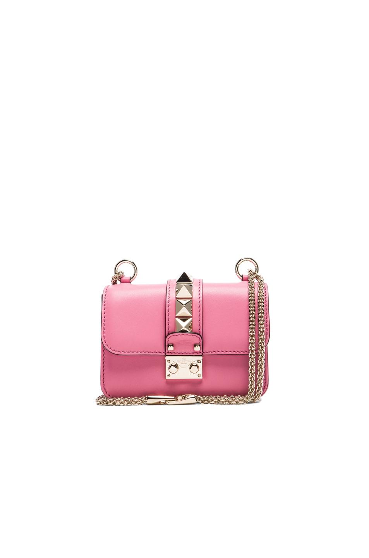 Image 1 of Valentino Micro Mini Lock Shoulder Bag in Pink