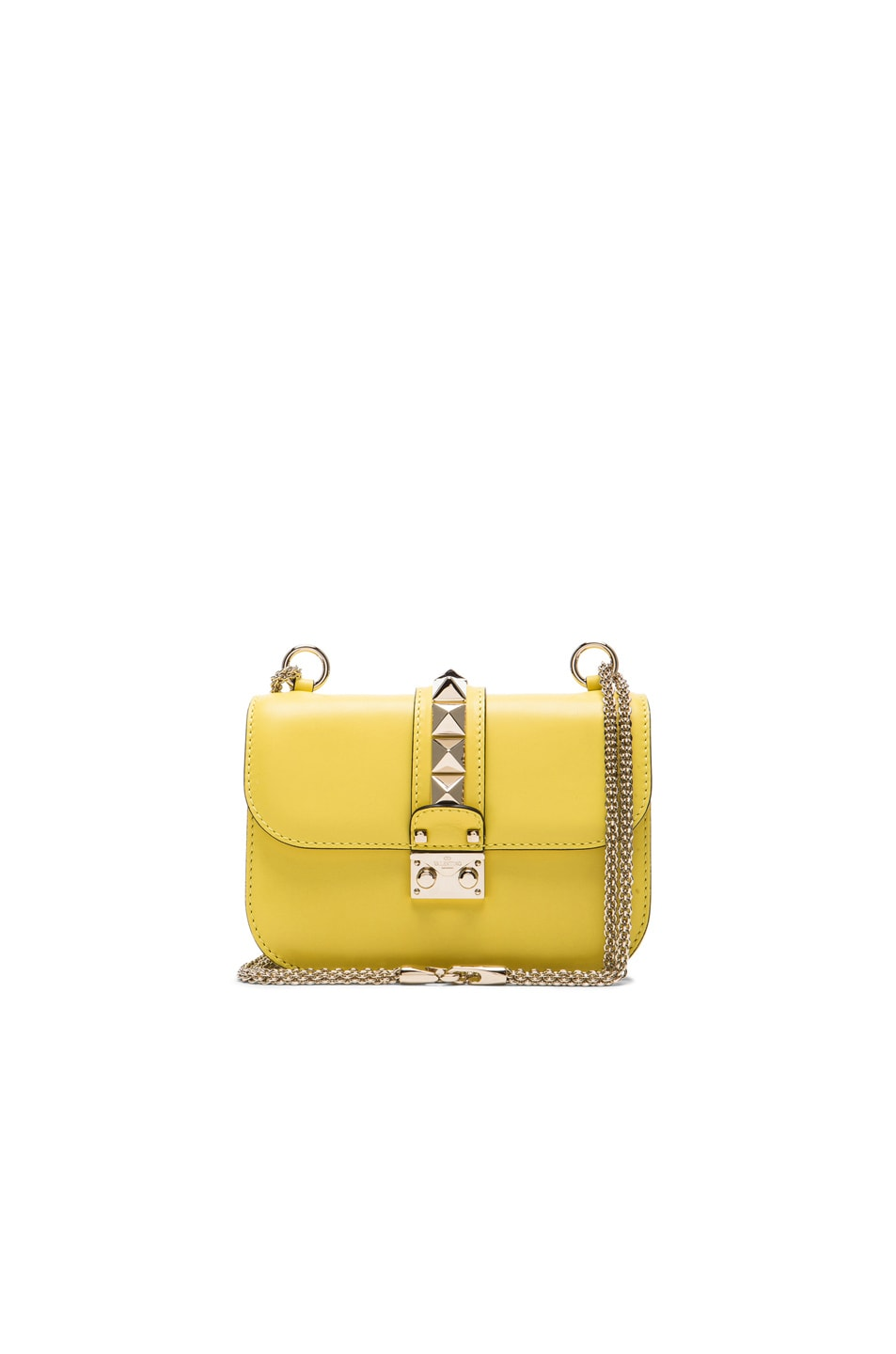 Image 1 of Valentino Small Lock Shoulder Bag in Naples Yellow