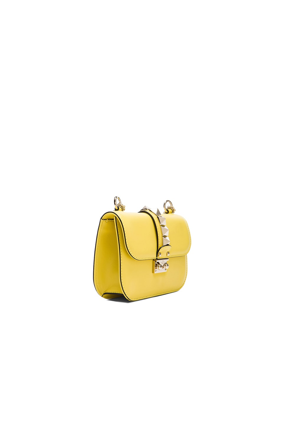 Image 4 of Valentino Small Lock Shoulder Bag in Naples Yellow