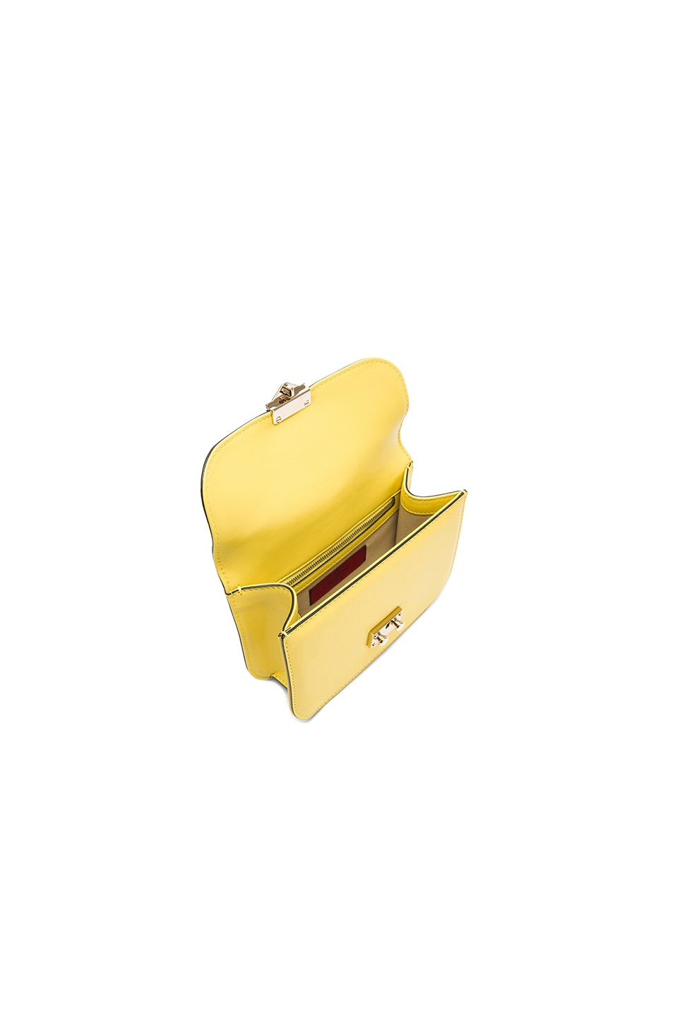 Image 5 of Valentino Small Lock Shoulder Bag in Naples Yellow