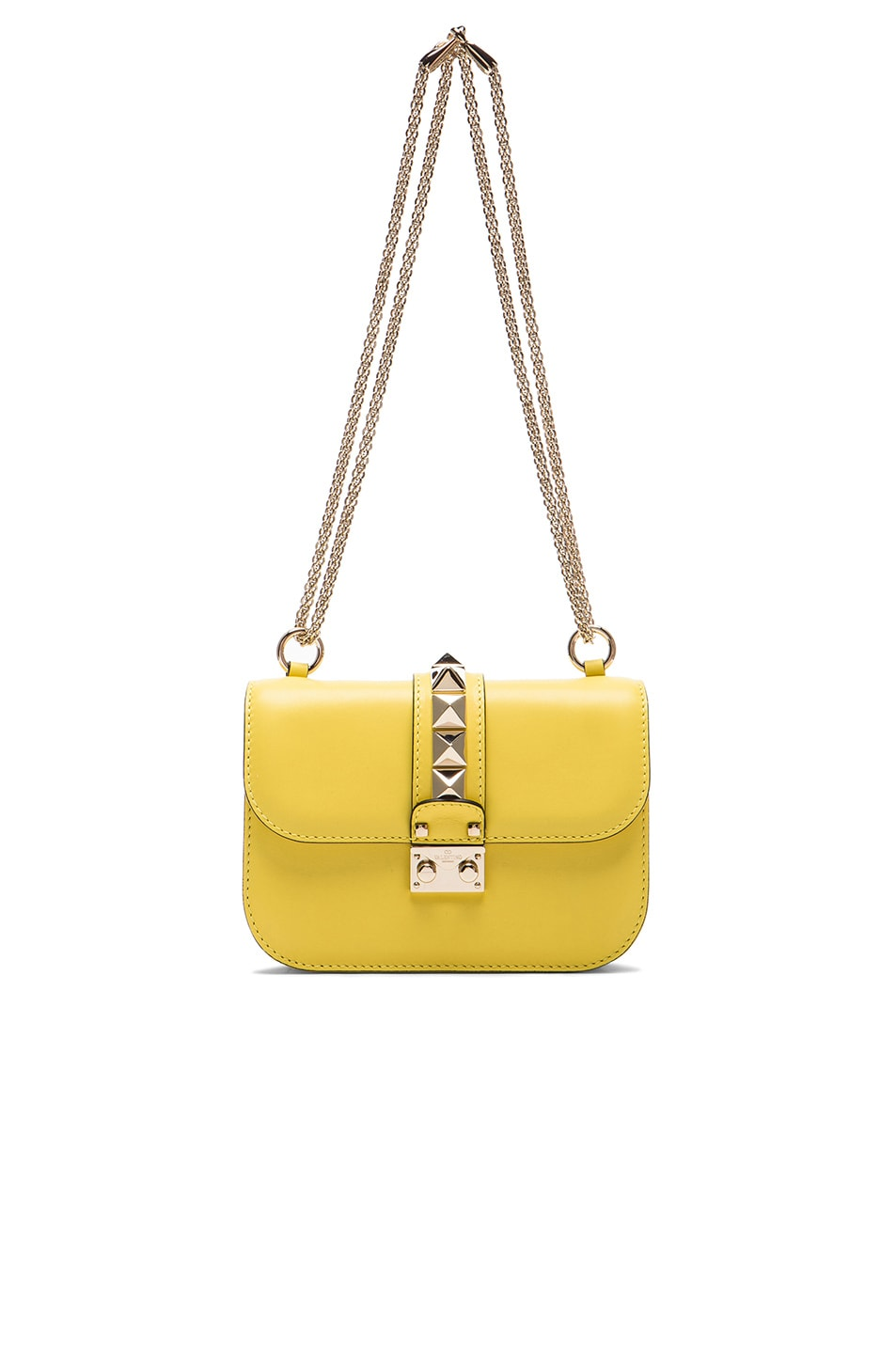 Image 6 of Valentino Small Lock Shoulder Bag in Naples Yellow