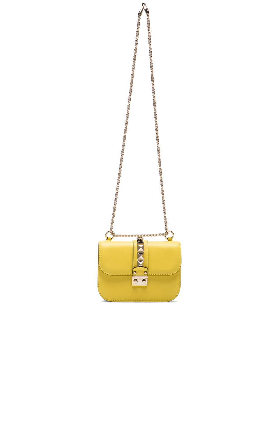 Image 7 of Valentino Small Lock Shoulder Bag in Naples Yellow