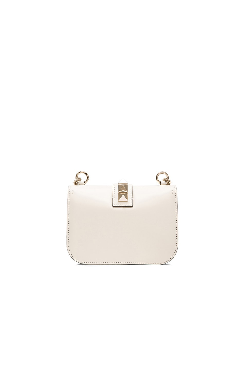 Image 3 of Valentino Small Lock Flap Bag in Light Ivory