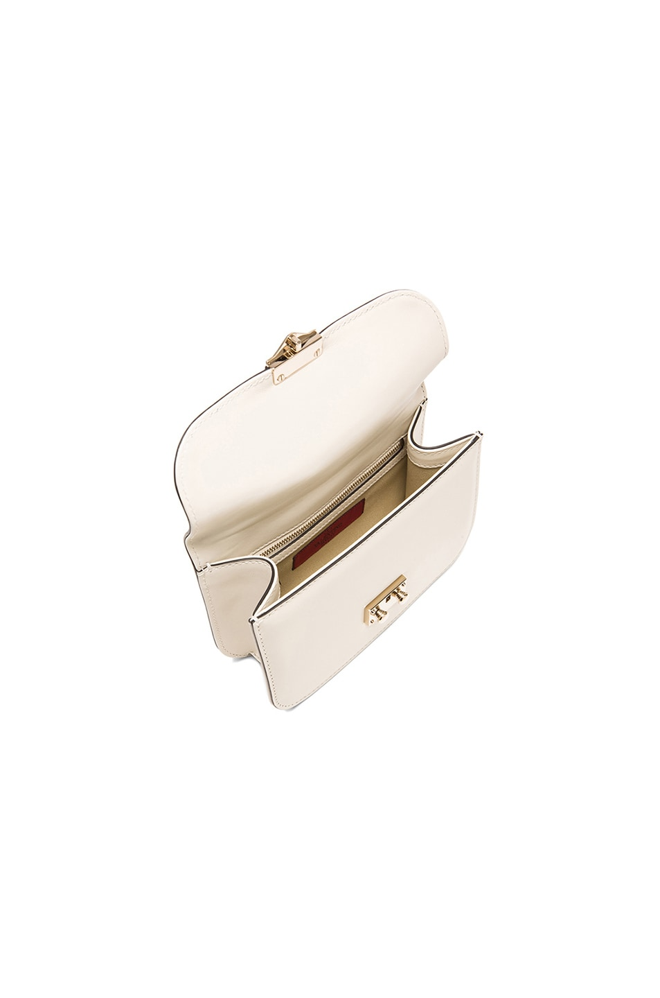 Image 5 of Valentino Small Lock Flap Bag in Light Ivory