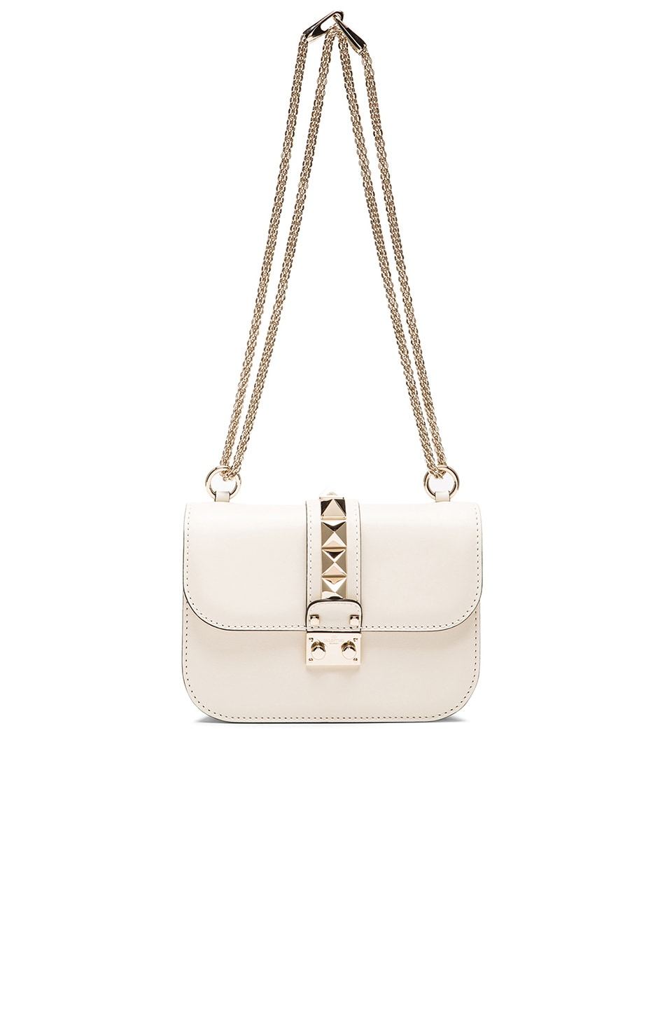 Image 6 of Valentino Small Lock Flap Bag in Light Ivory