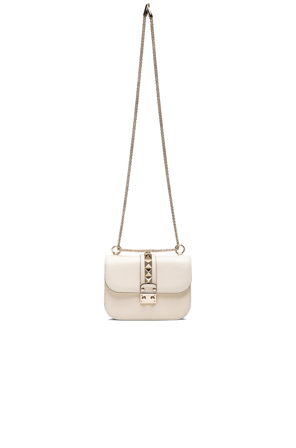 Image 7 of Valentino Small Lock Flap Bag in Light Ivory