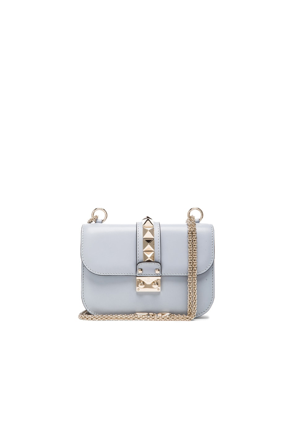 Image 1 of Valentino Small Lock Flap Bag in Water Sky