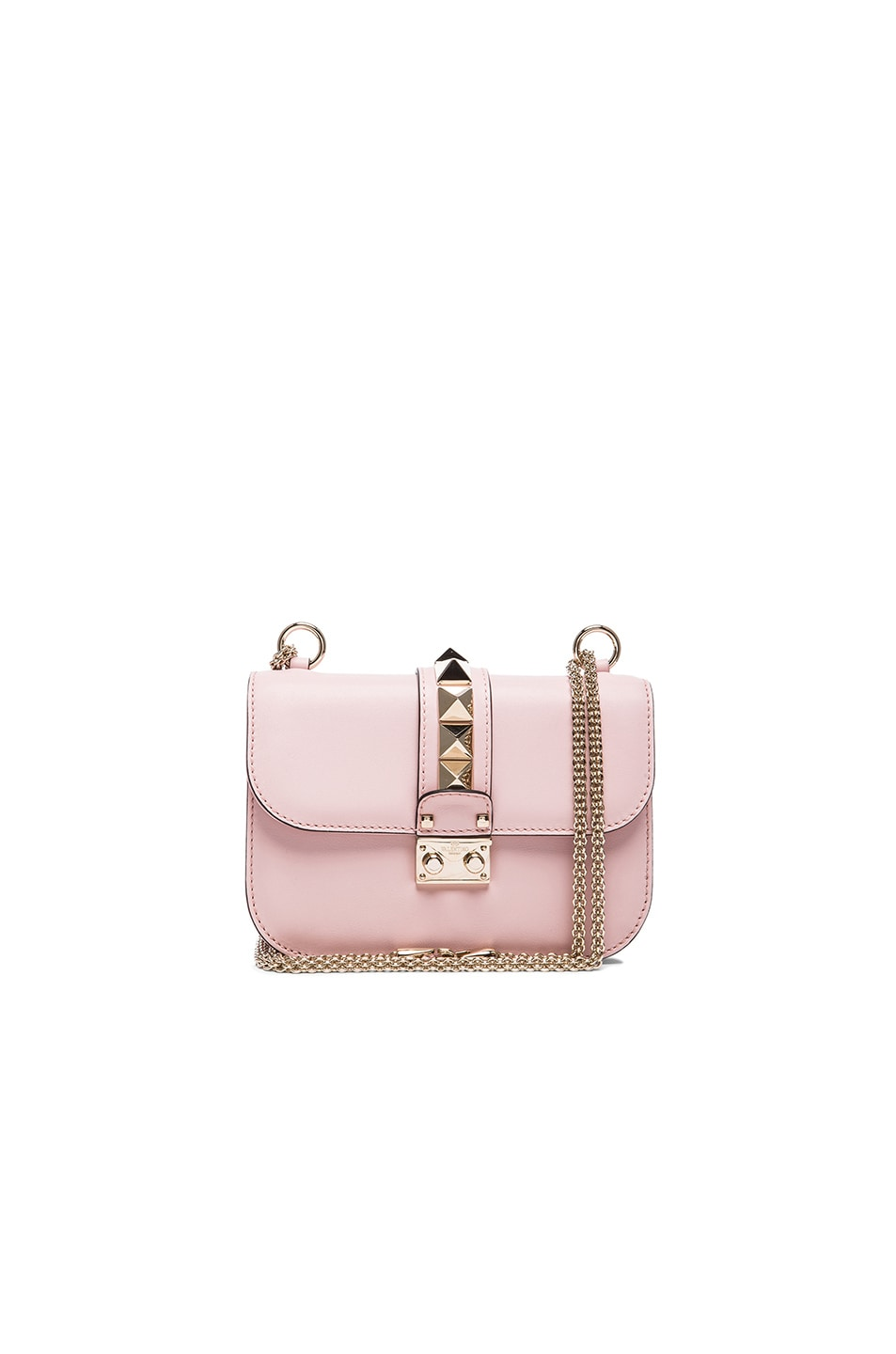Image 1 of Valentino Small Lock Flap Bag in Water Rose