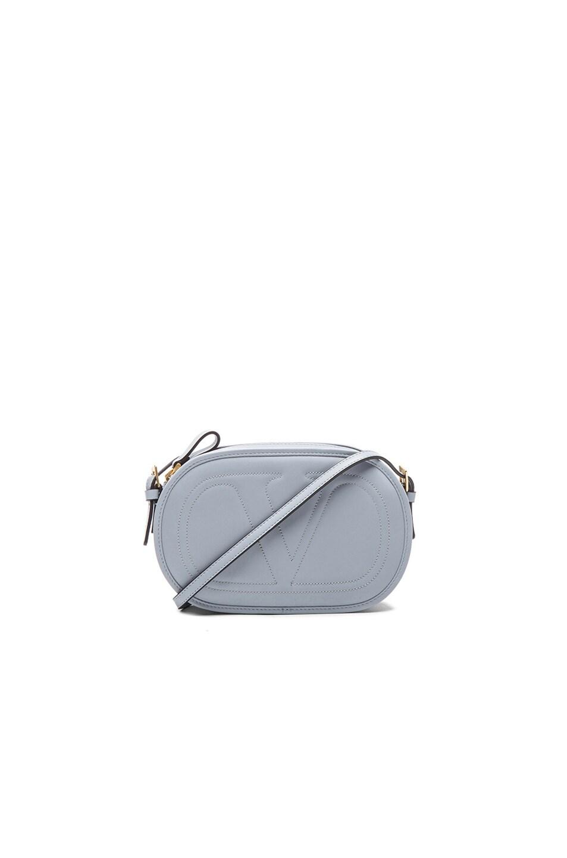 Image 1 of Valentino Garavani Small Logo Go Cross Body Bag in Water Sky