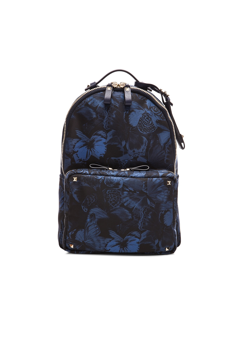 Image 1 of Valentino Camu Butterfly Backpack in Marine