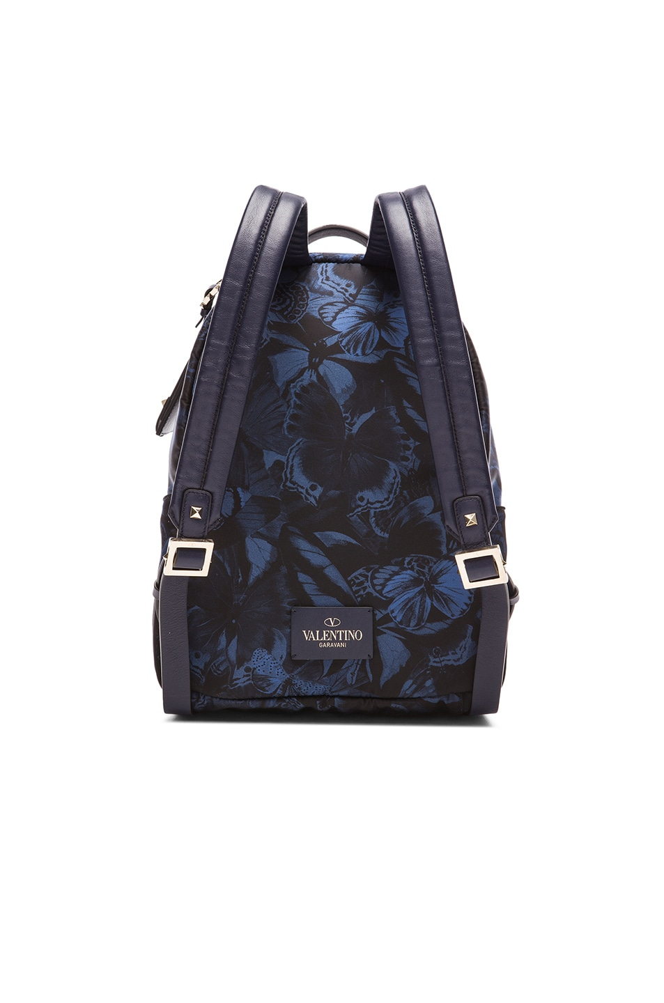 Image 2 of Valentino Camu Butterfly Backpack in Marine