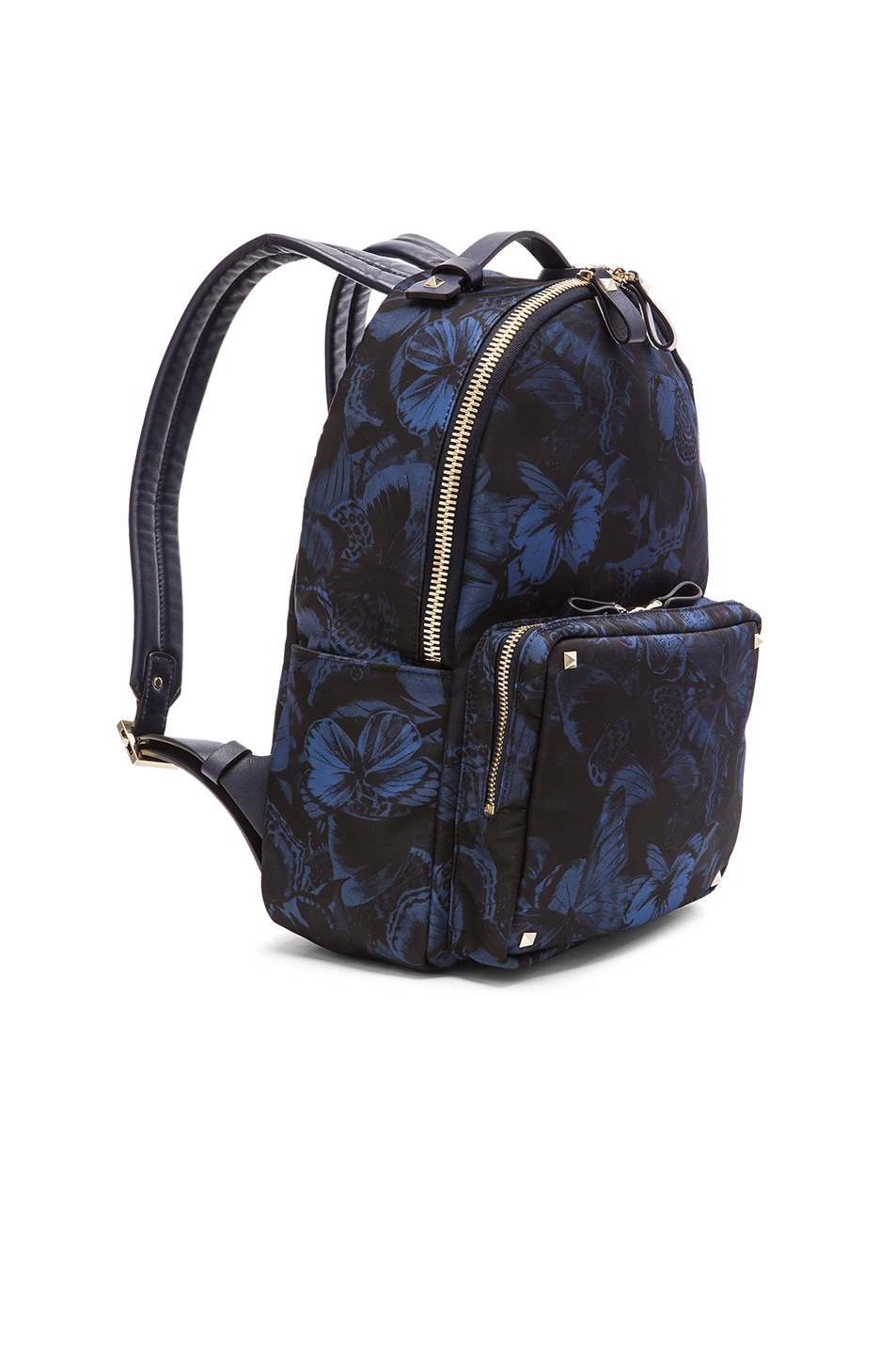 Image 3 of Valentino Camu Butterfly Backpack in Marine