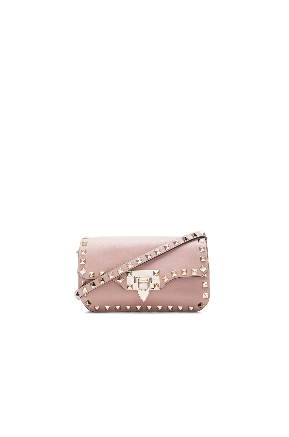 Image 1 of Valentino Rockstud Crossbody Bag in Poudre