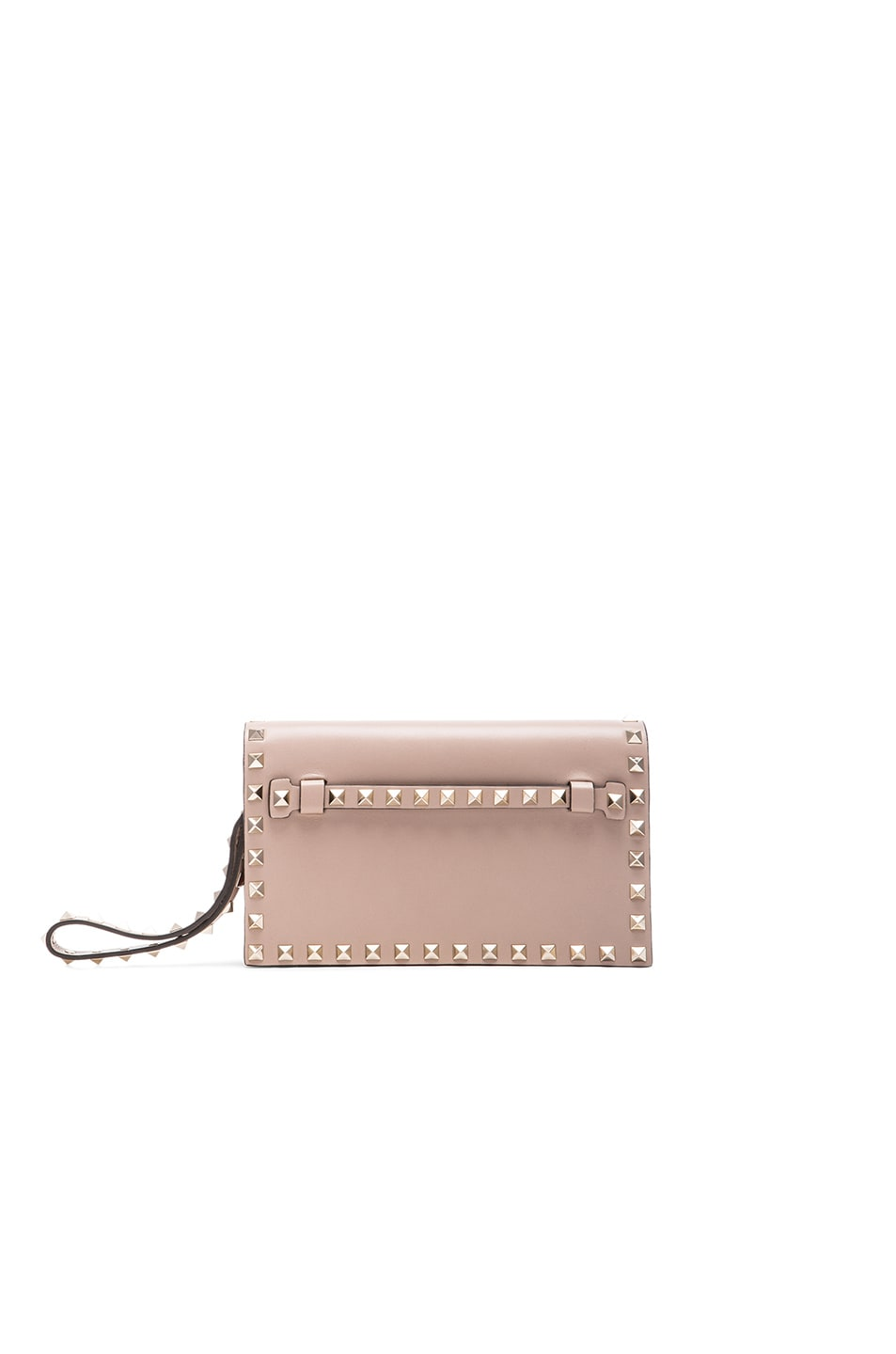Image 1 of Valentino Rockstud Small Clutch in Poudre