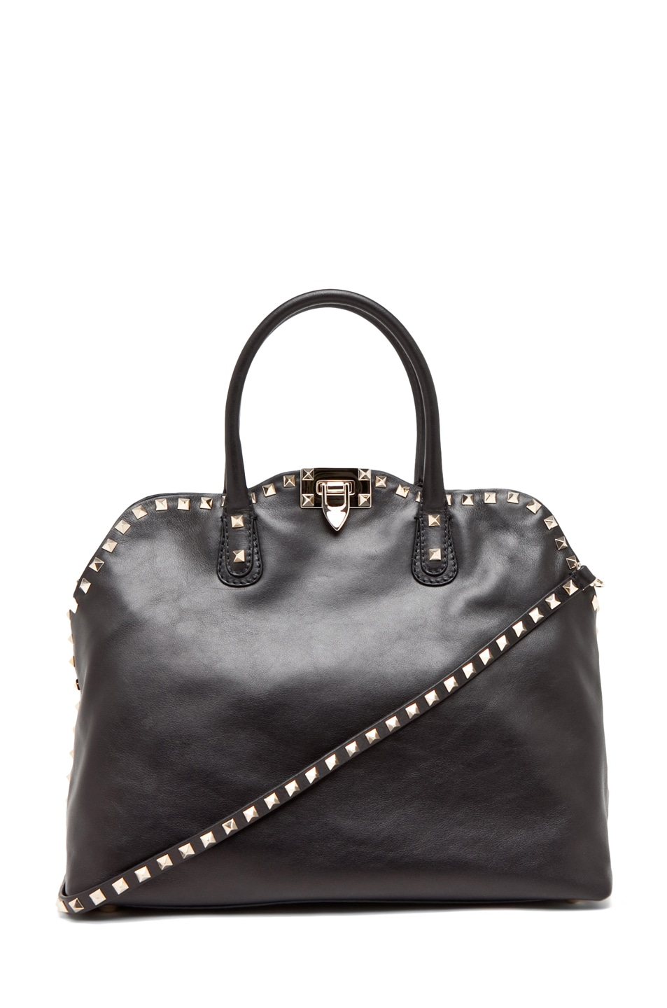 Image 1 of Valentino Rockstud Dome Bag in Black
