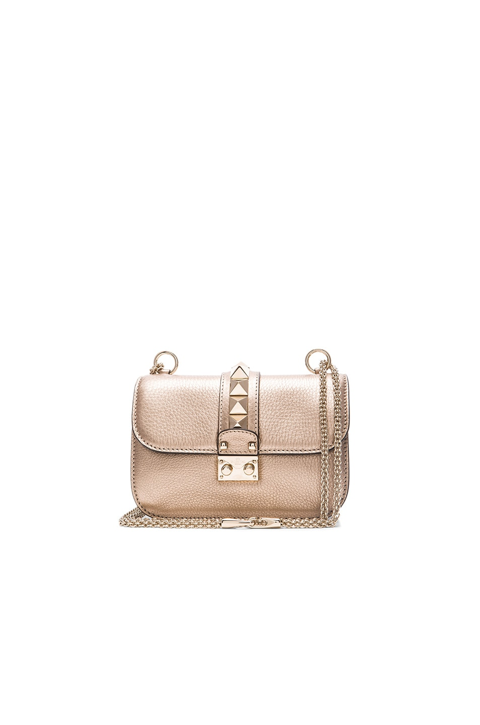 Image 1 of Valentino Metallic Small Lock Shoulder Bag in Sassa