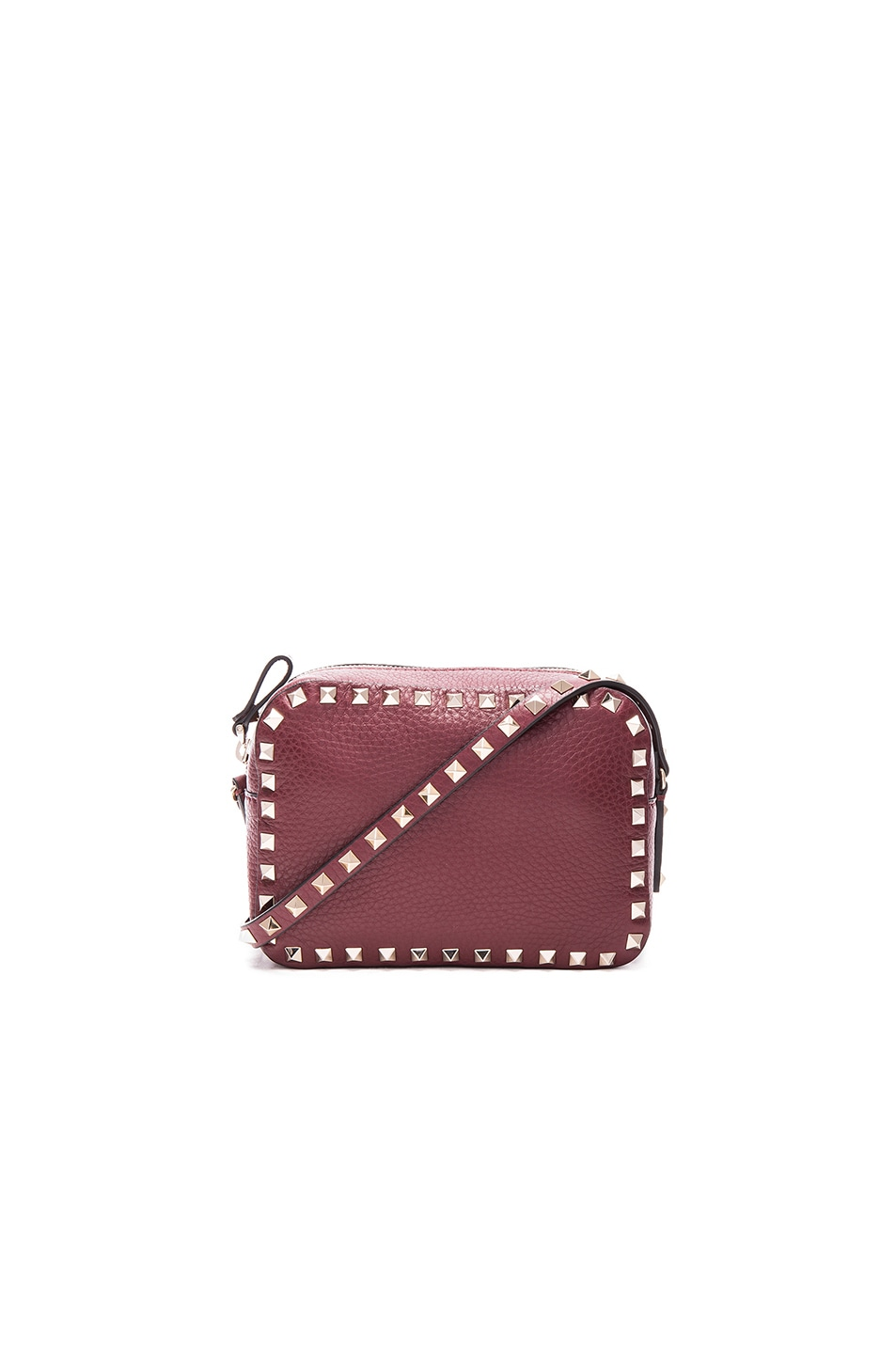 Image 1 of Valentino Rockstud Crossbody Bag in Crimisi