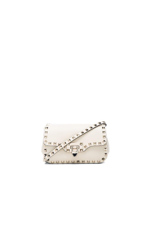 903315c9d6 Image 1 of Valentino Rockstud Small Shoulder Bag in Light Ivory