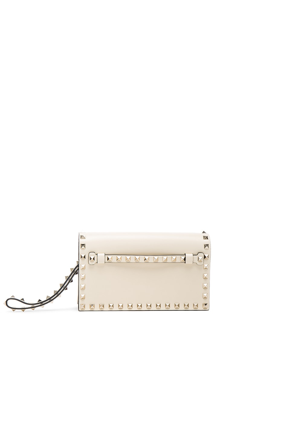 Image 1 of Valentino Rockstud Small Clutch in Light Ivory