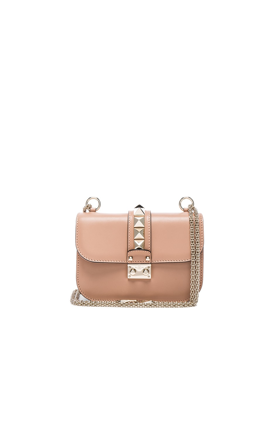 Image 1 of Valentino Small Lock Flap Bag in Soft Noisette