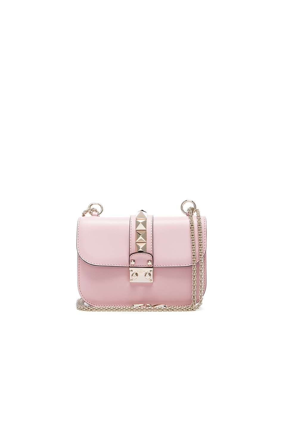 Image 1 of Valentino Small Lock Shoulder Bag in Cipria
