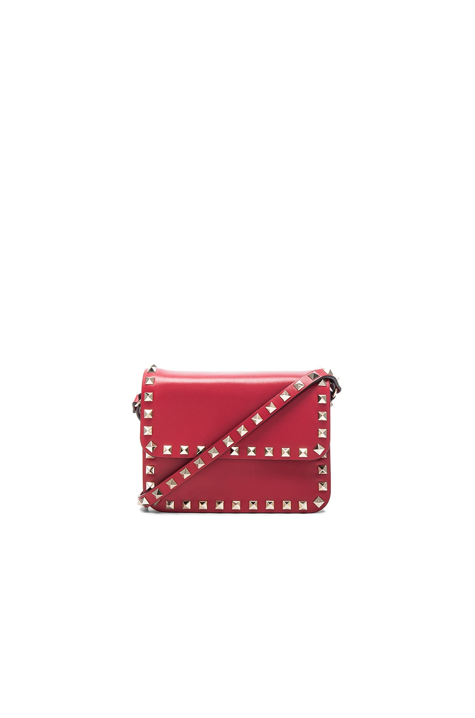 Image 1 of Valentino Rockstud Shoulder Bag in Red