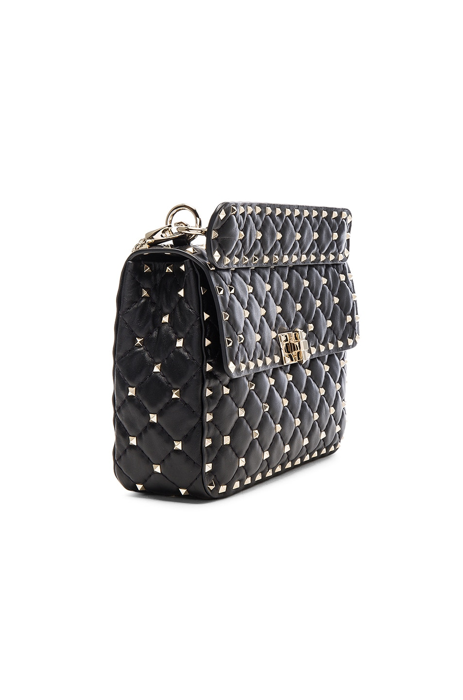 Image 4 of Valentino Medium Rockstud Shoulder Bag in Black