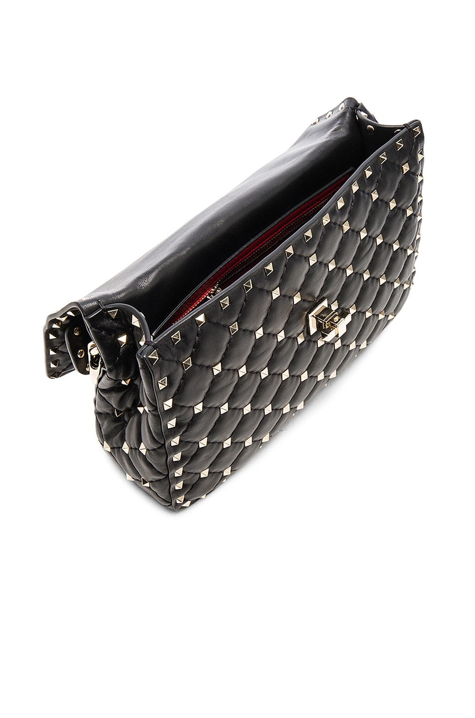Image 5 of Valentino Medium Rockstud Shoulder Bag in Black