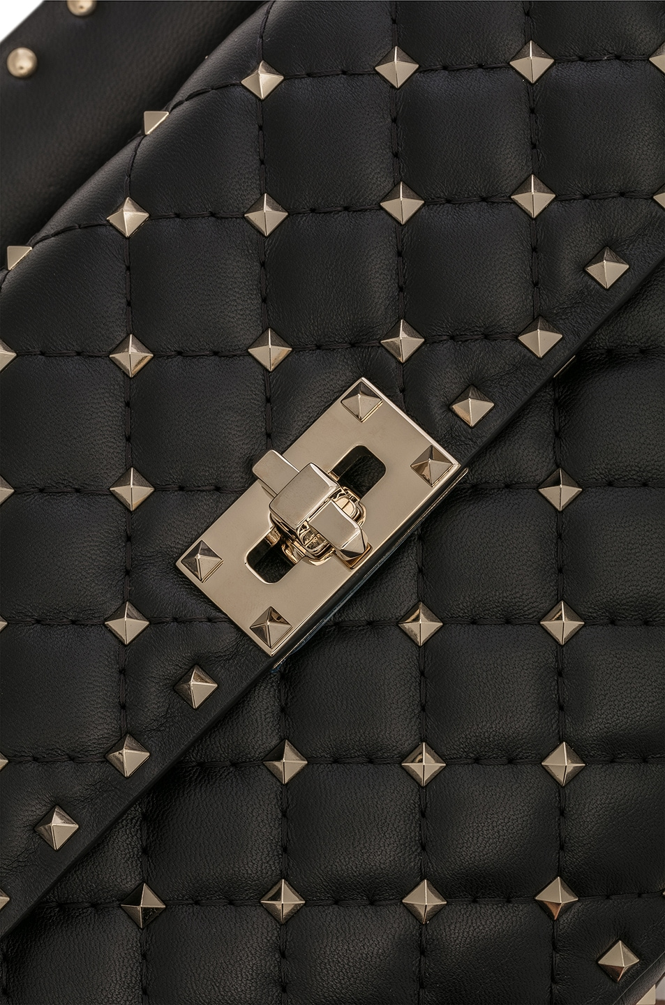 Image 8 of Valentino Medium Rockstud Shoulder Bag in Black
