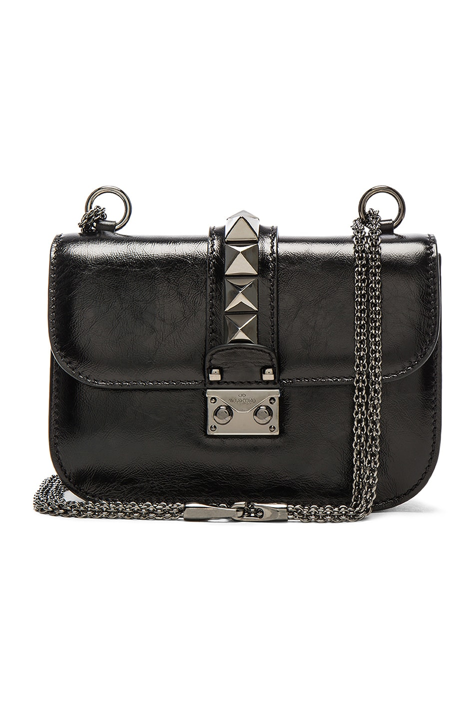 Image 1 of Valentino Noir Small Lock Shoulder Bag in Black