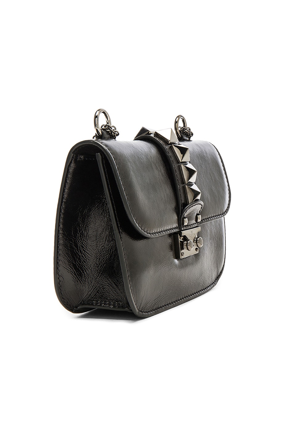 2e8742e6714 Image 4 of Valentino Noir Small Lock Shoulder Bag in Black