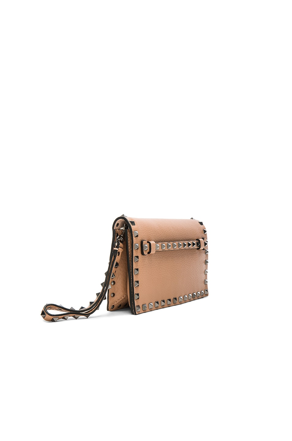 Image 3 of Valentino Rockstud Small Clutch in Soft Noisette