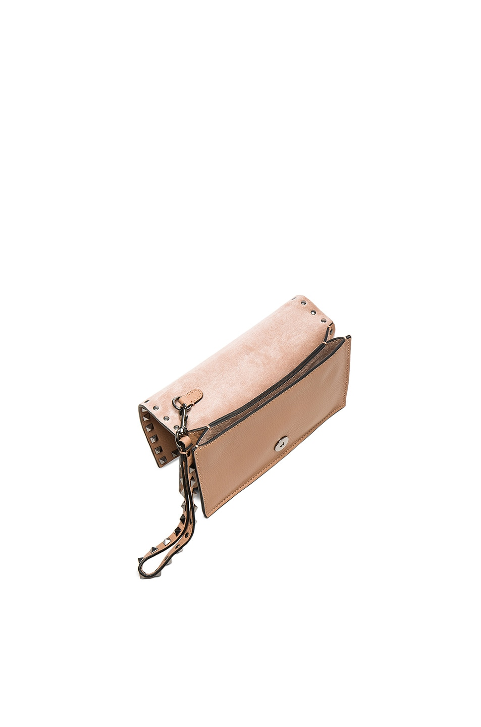 Image 4 of Valentino Rockstud Small Clutch in Soft Noisette