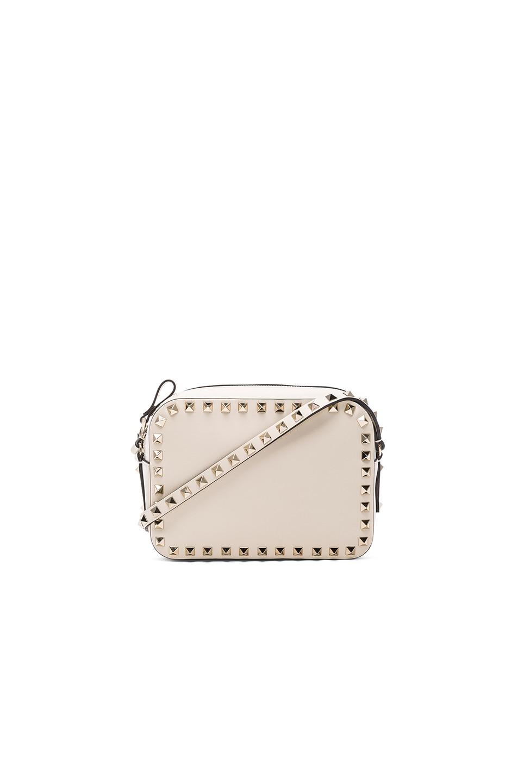 Image 1 of Valentino Rockstud Crossbody Bag in Light Ivory