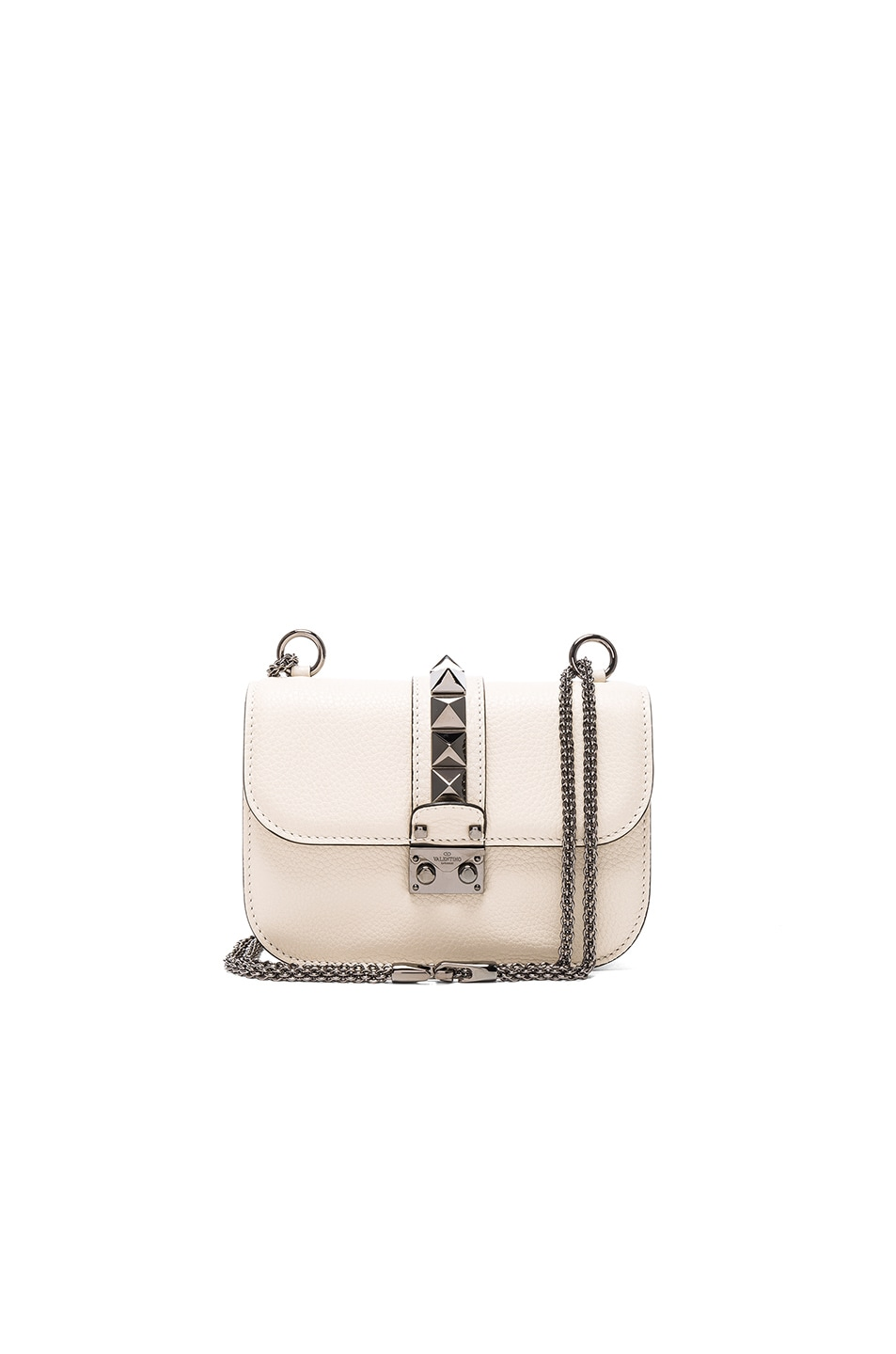 Image 1 of Valentino Small Lock Shoulder Bag in Light Ivory
