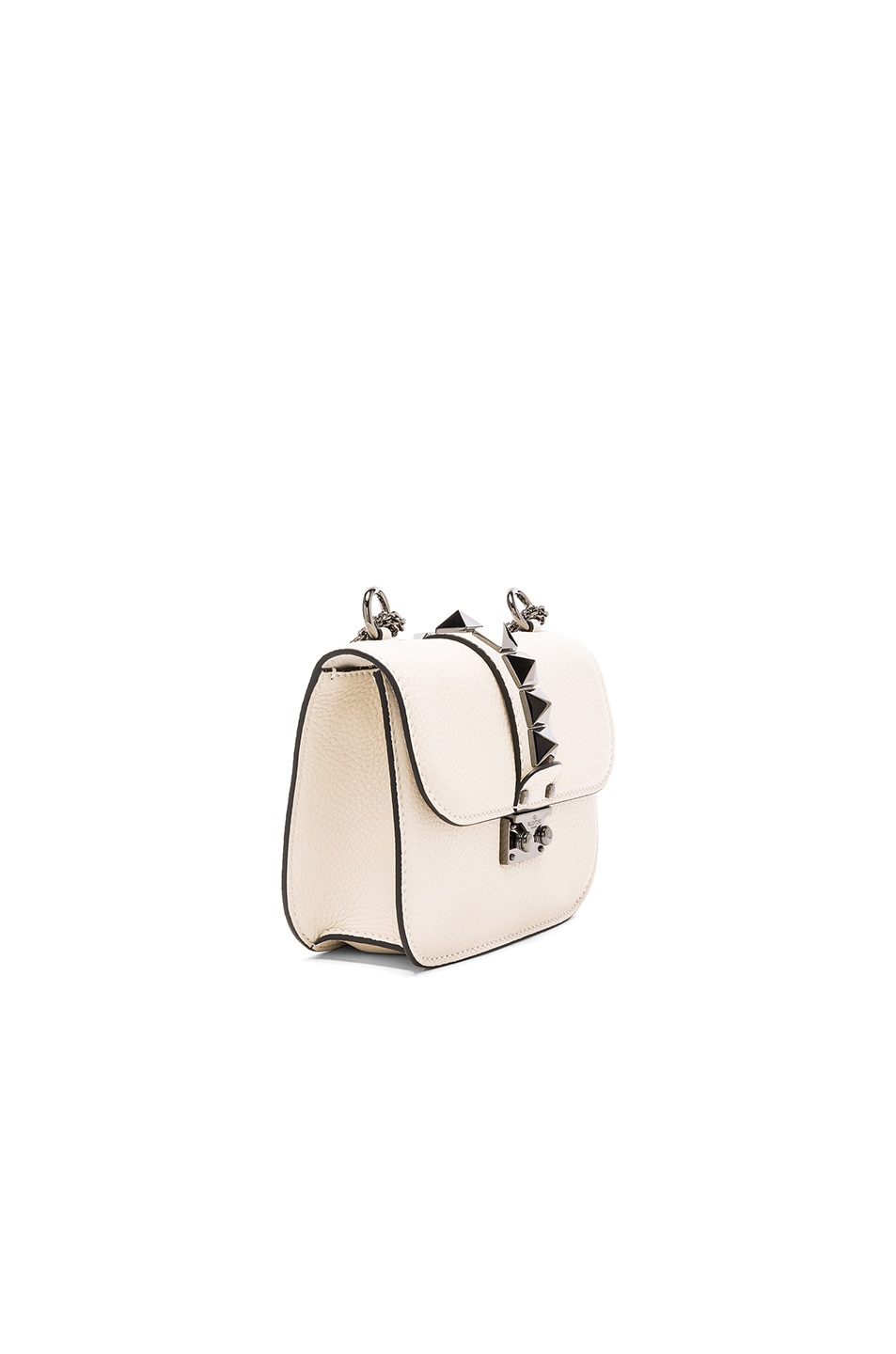 Image 3 of Valentino Small Lock Shoulder Bag in Light Ivory